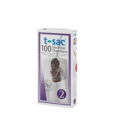 t-sac Theefilters No. 2 - voor 100 x vier koppen thee