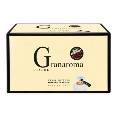 Caffè Vergnano ESE serving pods 'Granaroma' 18 stuks