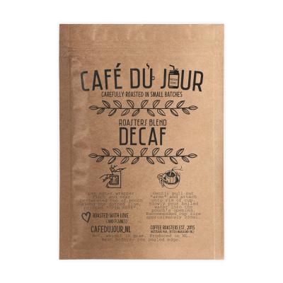 Café du Jour Single Serve Drip Coffee - Roasters Blend DECAF - filterkoffie voor onderweg!