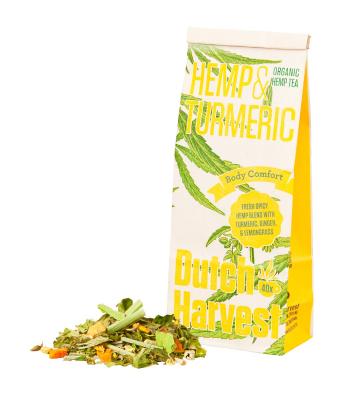 Hemp & Turmeric - Hennep & Kurkuma thee 50 gram - Biologisch - Dutch Harvest losse thee