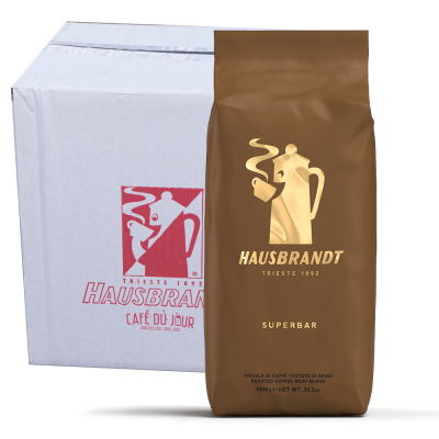 Caffè Hausbrandt Superbar koffiebonen 6 x 1 kilo