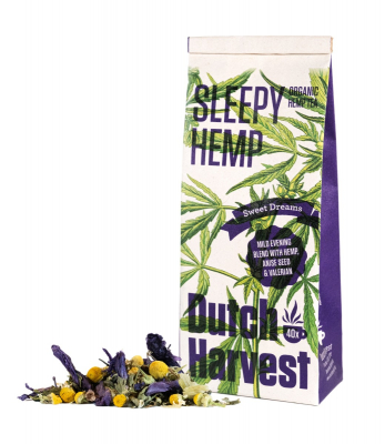 Sleepy Hemp - Hennep & Kruidenmix thee 40 gram - Biologisch - Dutch Harvest losse thee