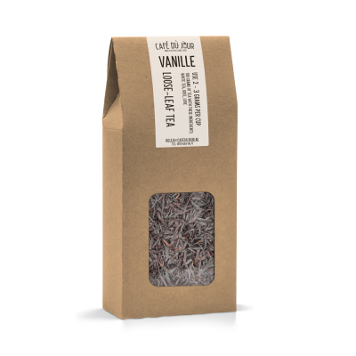 Vanille - zwarte thee 100 gram - Café du Jour losse thee