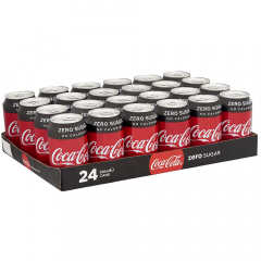 Coca Cola Zero 330 ml. / tray 24 blikken