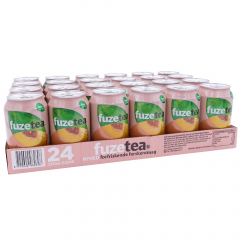 Fuze Tea peach black tea 330 ml. / tray 24 blikken