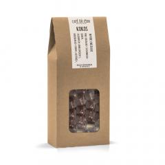 Kokosblokjes in pure chocolade 250 gram