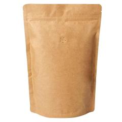 Koffiezak Kraft hersluitbaar/zipper met ventiel (1000 gram)