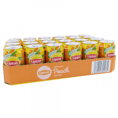 Lipton Ice Tea peach 330 ml. / tray 24 blikken