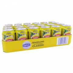 Lipton Ice Tea Sparkling Classic 330 ml. / tray 24 blikken