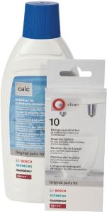 Onderhoudsset Koffiezetapparaat Siemens / Bosch - 10 tabletten / 500 ml ontkalker
