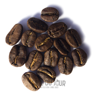 Koffiebonen tijdens de ontwikkelingsfase