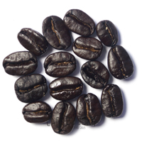 Koffiebonen heel donker gebrand